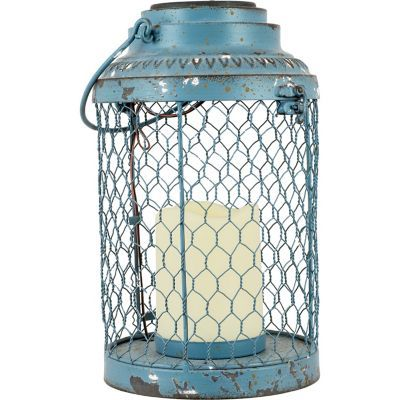 Red Shed Solar Powered Chicken Wire Lantern Large More Solar Lighting From Red Shed Tractor Supply Shed Decor Tractor Supplies Chicken Wire