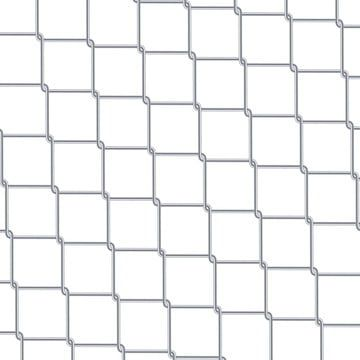 Chain Link Fence Background Industrial Style Wallpaper Realistic Geometric Texture Steel Wire Wall Isolated On White Vector Illustration Chain Fence Abstract Geometric Vector Geometric Textures Vector Illustration