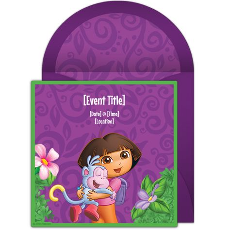 Free Dora The Explorer Invitations Adorable Online You Can Personalize And Send Via Email