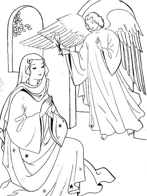 Angel Appears To Mary And Joseph And Tell Them About Birth Of