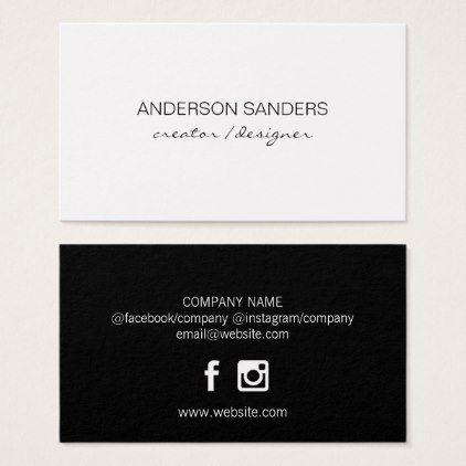 Classic Clean Professional Black White Business Card Zazzle Com White Business Card White Business Card Minimalist Business Cards Elegant