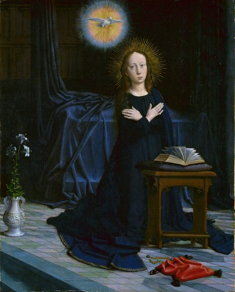 The Annunciation (part of a polyptych - Gerard David