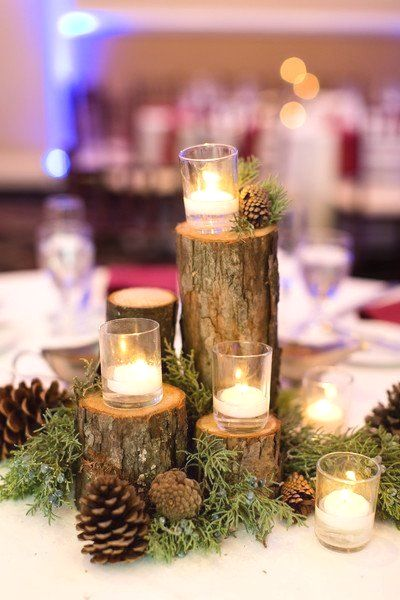 New Winter Wedding Decoration Ideas Winterwedding In 2020 Winter Wedding Centerpieces Pinecone Wedding Decorations Winter Wedding Decorations