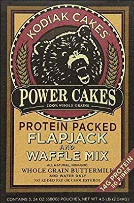 Amazon Com Kodiak Cakes Power Cakes Flapjack And Waffle Mix Whole Grain Buttermilk Net Wt 3 75 Lbs Kodiak Cakes Waffle Mix Kodiak Cakes Recipe