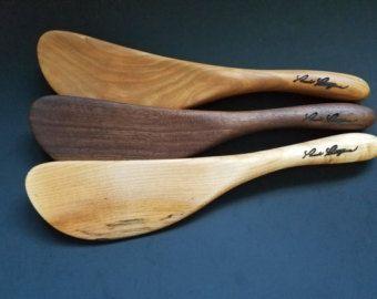 Wooden Bowl Scraper Spatula Spurtle Handmade So Curvy So