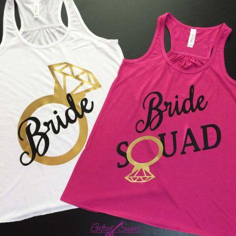 11a26e45e4706a Bride Squad Diamond Ring Bachelorette Shirts