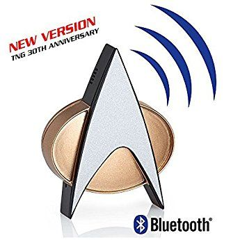 Star Trek TNG Bluetooth Communicator Badge with Chirp Sound