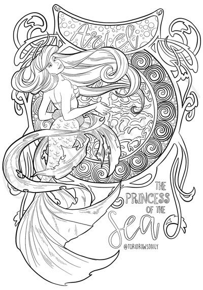 Best Mermaid Coloring Pages & Coloring Books   Pretend To Be ...