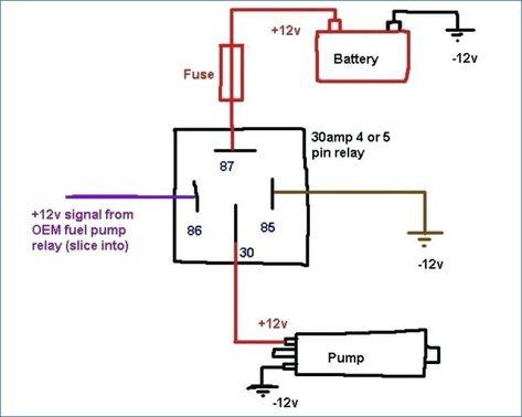 12v Relay Wiring Diagram 5 Pin ... | auto | Diagrame on