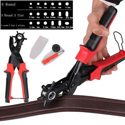 Pro Rotary Punch Heavy Duty Leather Leathercraft Tool