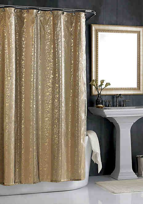 City Scene Sheer Bliss Shower Curtain Gold Shower Curtain