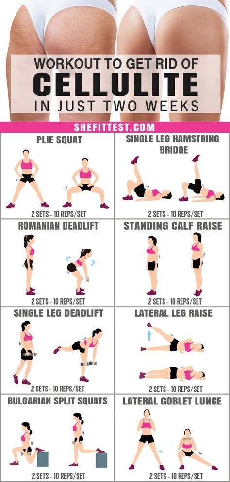 Amazing Cellulite Exercises To Get Perfect Legs in 2 Weeks