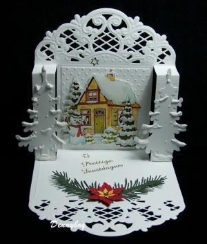 3D pop up Christmas card by Aman Moda