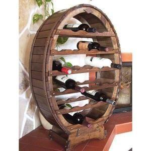 Dandibo Casier A Vin Tonneau A Vin Pour 24 Bouteilles Brun Decape Bar Porte Bouteilles Tonneau Porte Bouteilles Casier Vin Meuble Range Bouteille Decoration Salle De Jeux