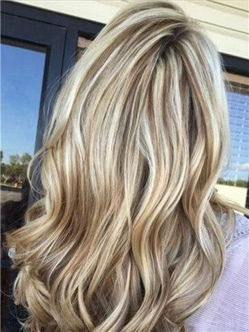 Long Blonde Highlight Brown Mixed Synthetic Lace Front Wig In 2020 Brown Hair With Blonde Highlights Brown Blonde Hair Blonde Highlights