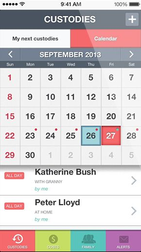 Iphone App Custody Calendar App Calendar Iphone