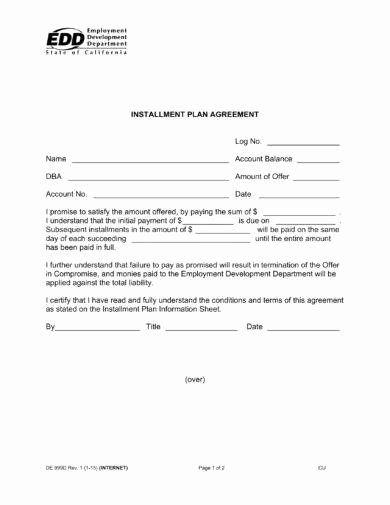 Payment Plan Agreement New 16 Agreement Letter For Payment