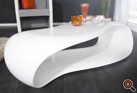 Tisch design  Couchtisch weiß hochglanz - Designer Tisch für das moderne ...