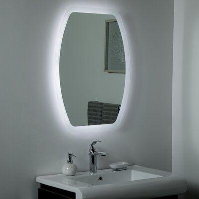 Orren Ellis Kappler Led Frameless Lighted Beveled Bathroom Mirror Bathroom Mirror Led Mirror Bathroom Bathroom Vanity Mirror