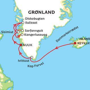 Fra Danmark Til Diskobugten I Gronland Danmark Rejser Krydstogt