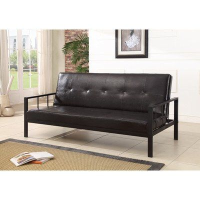 K And B Furniture Co Inc Klik Klak Vinyl Sofa Futon Bed Sleeper With Images Sofa Bed Brown Sofa Bed Black Convertible Sofa Bed