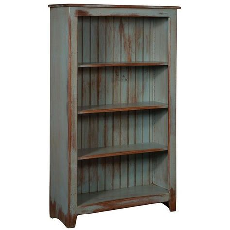 Amish Primitive Pine Bookcase 60 Height 699 Liked On Polyvore Featuring Home Pine Bookcase Primitive Furniture Primitive Decorating Country