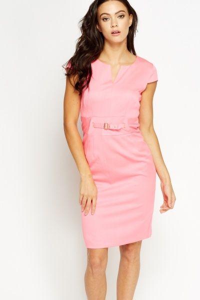 4e32ef59599 Buckle Waist Smart Dress - 3 Colours - Just £5