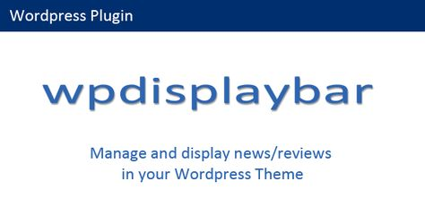 Wordpress Display Bar by robotom