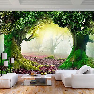 Photo Wallpaper Nature Park Tree Murals Living Room Tv Background