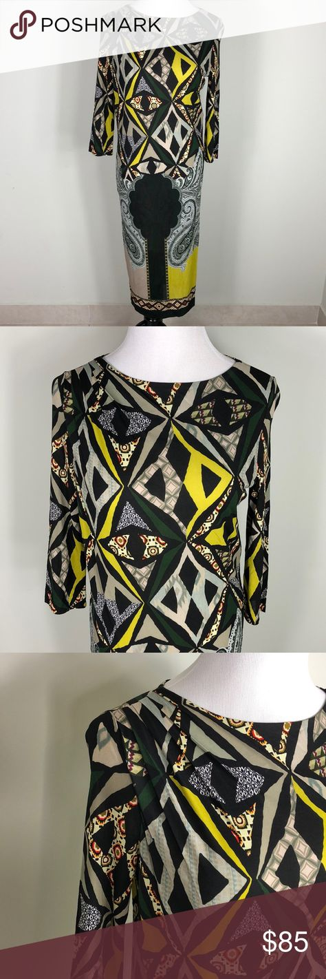 Women's long Etro dress sz 42 Pre loved excellent condition, Manequine is a sz 4 . Measurements: shoulder to bottom: 41 in 15.5 sleeve from shoulder: 17 in Etro Dresses