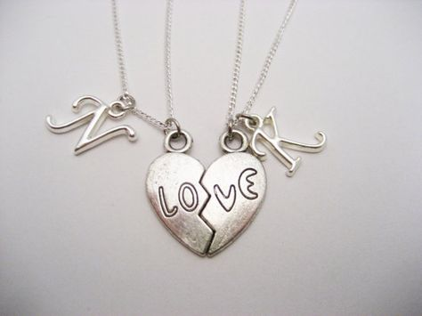 421e311cb6 Love Necklace Set Split Heart Necklace by RevelryJewelry on Etsy
