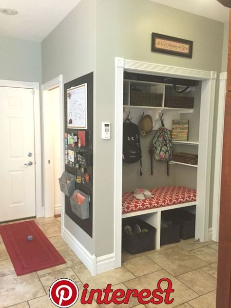 Converted coat closet to mudroom | new house in 2019 | Entryway closet, Front hall closet, Home Renovation « Dekoration Garden Woody Packer