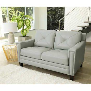 Atmore Top Grain Leather Loveseat Top Grain Leather Sofa Leather Loveseat Leather Sofa