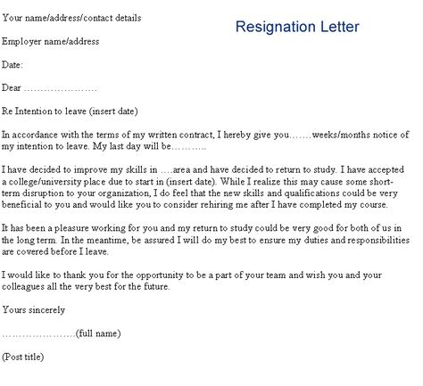 download resignation letters pdf amp doc letter formal sample and ...