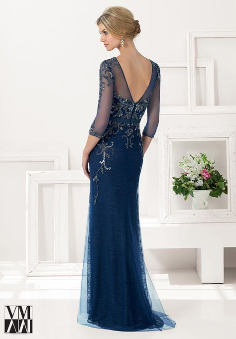 VM Collection 71134 Beaded Lace MOB Dress - French Novelty
