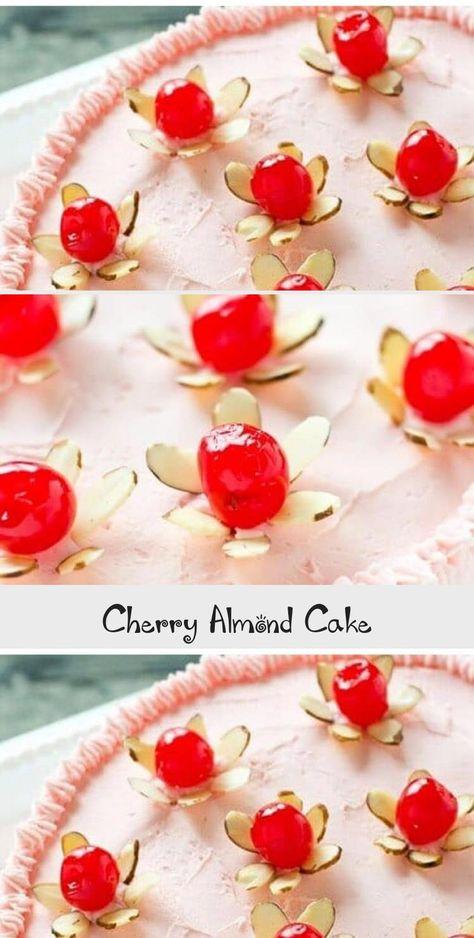 Cherry Almond Cake - Yummy Cakes