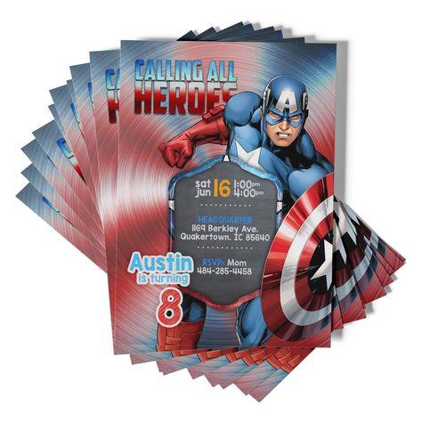 Captain America Invitations - Original