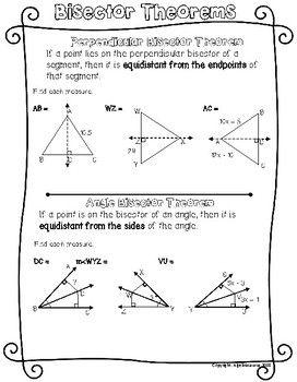 Perpendicular And Angle Bisector Worksheet   worksheet