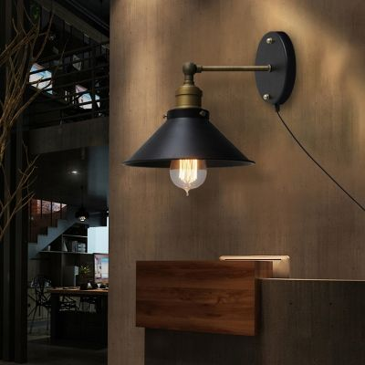 Canyon Cone Outdoor Wall Light Large Plain Black Iron Etsy Outdoor Wall Lighting Wall Lights Rustic Wall Lighting