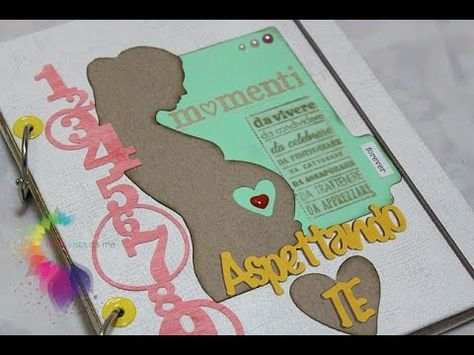 Diario di Gravidanza Fai da te-Mini Album Scrapbooking- Pregnancy Journal DIY - YouTube