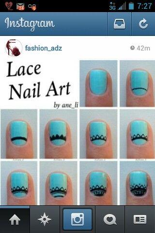 Lace nail art simple nails nail designs nail tutorials blue lace nail art simple nails nail designs nail tutorials blue nails aqua nails diy nails short nails natural nails nails pinterest nail stuff prinsesfo Images