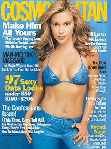 cosmos cover gallery 10 years of sizzling issues alyssa milano november and cover girl - Milano Cover