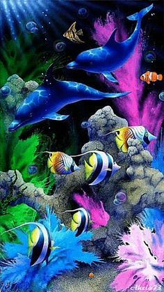 Fish, Dolphins, and Even Nemo Swimming #shopprice #gif #Animation