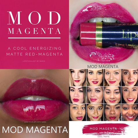 Mod Magenta LipSense collage with lips and selfies #modmagenta