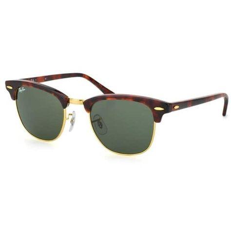 0b2f4ac6f4 Ray-Ban Clubmaster RB 3016 Unisex Tortoise Frame Green Classic Lens  Sunglasses