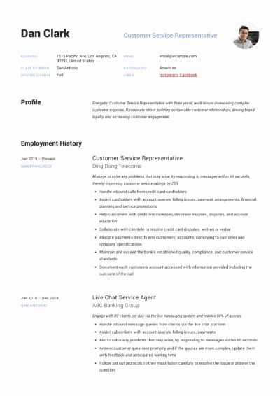25 Guest Services Representative Resume Customer Service