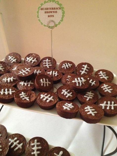 Mini brownies at a Football Party. See more party ideas at . Mini brownies at a Football Party. See more party ideas at . Football Birthday, Sports Birthday, Sports Party, Birthday Parties, Birthday Cupcakes, Birthday Games, Birthday Ideas, 8th Birthday, Sports App