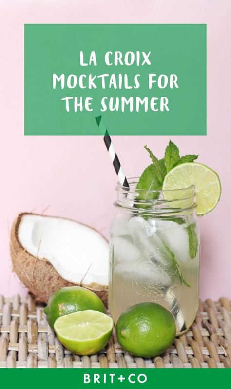 Keep things light this summer with these La Croix mocktail recipes.