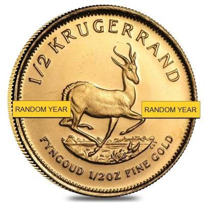 1 2 Oz South African Krugerrand Gold Coin Random Year Bullion Bullionexchanges Preciousmetals Invest Stack Collect Gold Gol Gold Krugerrand Gold Coins