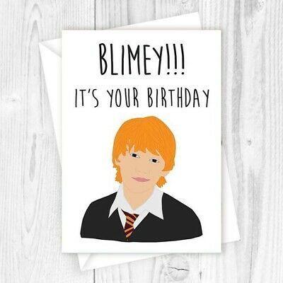 Harry Potter Birthday Card Ron Weasley Funny Happy Birthday Card Greetings Eb Harry Potter Birthday Cards Happy Birthday Card Funny Harry Potter Birthday
